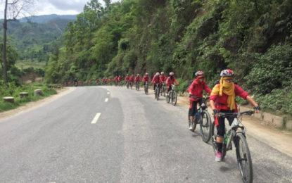 Gyalwang Drukpa Leads Cyclists on 4th Drukpa Eco Cycle Yatra
