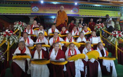 His Holiness the Dalai Lama Awards Historic Geshema Degree to Tibetan Buddhist Nuns