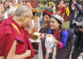 His Holiness the Dalai Lama Arrives at Central Institute of Higher Tibetan Studies in Sarnath