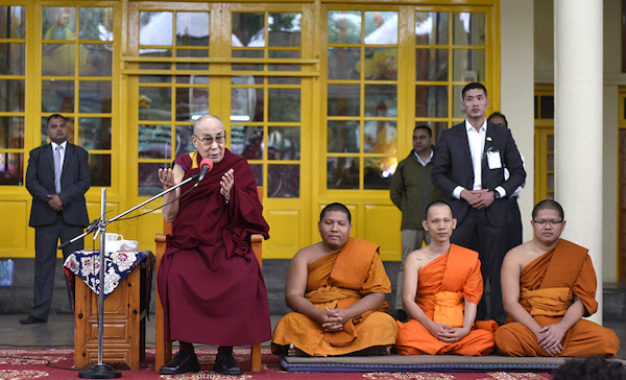 His Holiness the Dalai Lama Speaks about Oneness of Humanity to Foreign Tourists in Dharamshala
