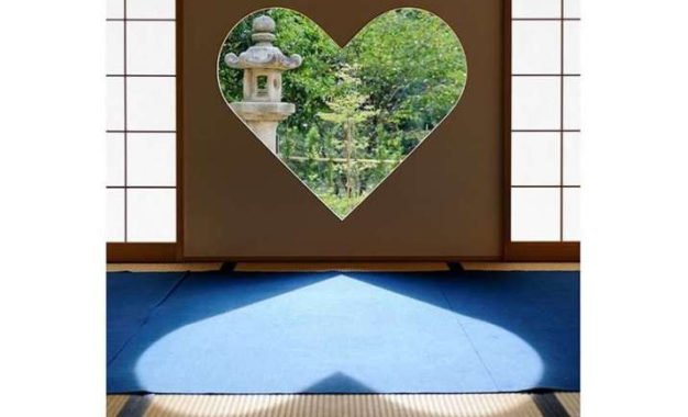 Inome Window at Buddhist Temple in Kyoto Brings Love and Fortune