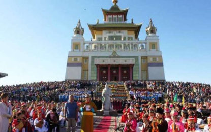 Kalmykia Hosts a Unique Musical Offering to the Three Jewels