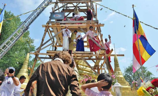 Mon Community Builds First Authentic Buddhist Pagoda in Ohio