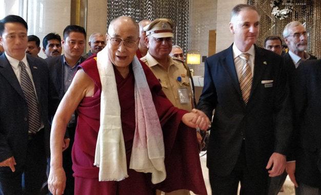 His Holiness the Dalai Lama arrives on three-day visit to Mumbai