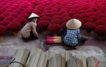 Vietnam's 'incense village' lights up in sea of pink ahead of Tet lunar new year