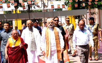 Buddha was good for good's sake, he loved for love's sake: PM Modi