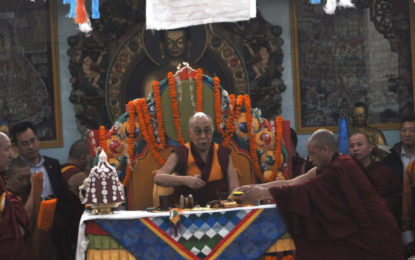 His Holiness the Dalai Lama Inaugurates Mongolian Buddhist Temple at Bodh Gaya