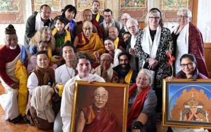 His Holiness the Dalai Lama gives a talk on Compassion to Foreign devotees in Bodhgaya