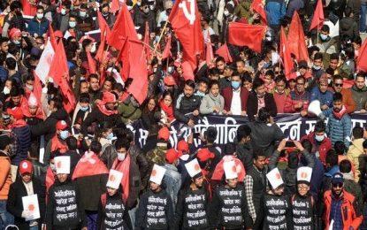 Thousands march through Kathmandu against PM dissolving Parliament